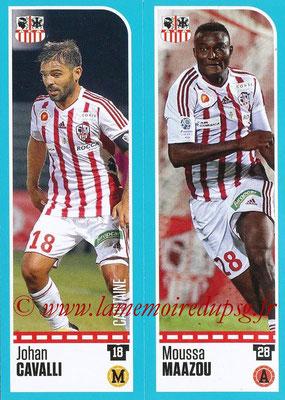 2016-17 - Panini Ligue 1 Stickers - N° 845 + 846 - Johan CAVALLI + Moussa MAAZOU (AC Ajaccio)