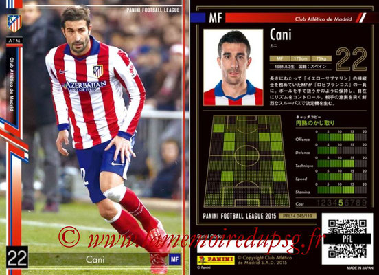 Panini Football League 2015 - PFL14 - N° 045 - CANI (Club Atletico de Madrid)