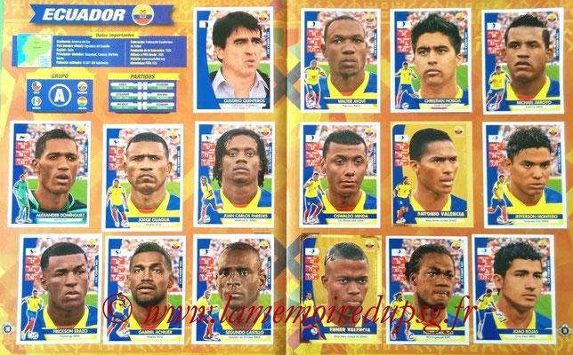 Navarette Copa America Chile 2015 Stickers - Pages 10 et 11 - Equateur