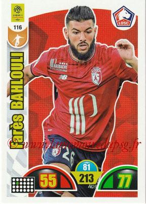 2018-19 - Panini Adrenalyn XL Ligue 1 - N° 116 - Farès BAHLOULI (Lille)