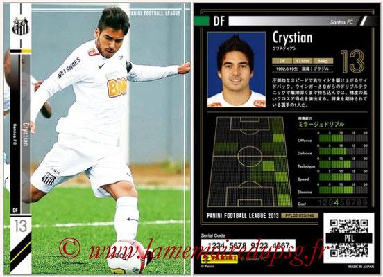 Panini Football League 2013 - PFL02 - N° 075 - Crystian ( Santos FC )