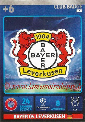 2014-15 - Adrenalyn XL champions League N° 009 - Logo Bayer Leverkusen (Club Badge)