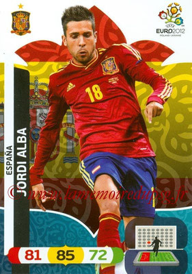 Panini Euro 2012 Cards Adrenalyn XL - N° 063 - Jordi ALBA (Espagne)