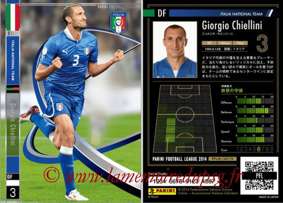 Panini Football League 2014 - PFL08 - N° 132 - Giorgio CHIELLINI (Italie) (Star)