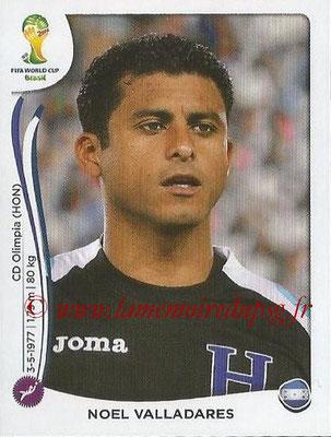 2014 - Panini FIFA World Cup Brazil Stickers - N° 395 - Noel VALLADARES (Honduras)