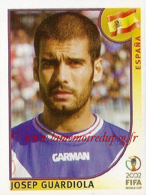 2002 - Panini FIFA World Cup Stickers - N° 106 - Josep GUARDIOLA (Espagne)