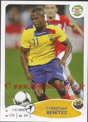 2014 - Panini Road to FIFA World Cup Brazil Stickers - N° 199 - Christian BENITEZ (Equateur)