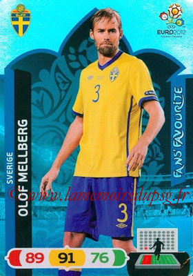Panini Euro 2012 Cards Adrenalyn XL - N° 273 - Olof MELLBERG (Suède) (Fans' Favourite)