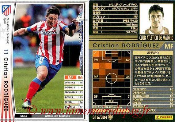 N° 316 - Cristian RODRIGUEZ (2005-Aout 2007, PSG > 2012-13, Atletico Madrid, ESP)