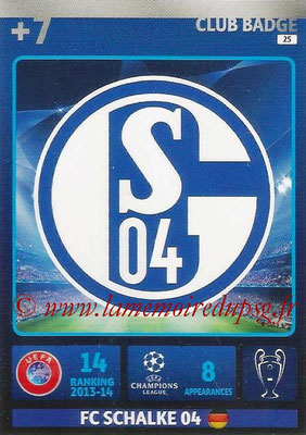 2014-15 - Adrenalyn XL champions League N° 025 - Logo FC Schalke 04 (Club Badge)