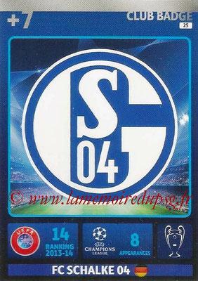 2014-15 - Adrenalyn XL champions League N° 025 - Logo FC Schalke 04 (Club Badge)