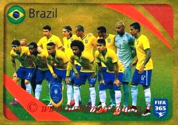 2015-16 - Panini FIFA 365 Stickers - N° 855 - Brésil (Brillante)