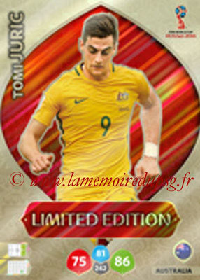 2018 - Panini FIFA World Cup Russia Adrenalyn XL - N° LE-TJ - Tomi JURIC (Australie) (Limited Edition)