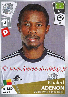 2017-18 - Panini Ligue 1 Stickers - N° 002 - Khaled ADENON (Amiens)
