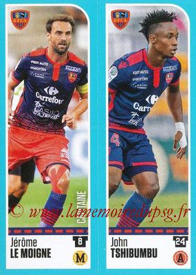 2016-17 - Panini Ligue 1 Stickers - N° 849 + 850 - Jérôme LE MOIGNE + John TSHIBUMBU (Gazelec Ajaccio)