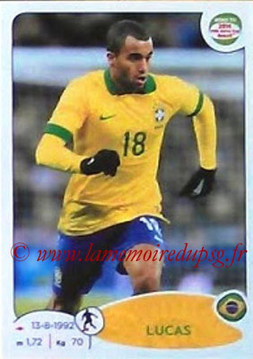 2014 - Panini Road to FIFA World Cup Brazil Stickers - N° 009 - LUCAS (Brésil)