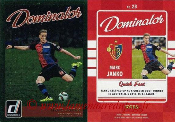 2016 - Panini Donruss Cards - N° D28 - Marc JANKO (FC Spartak Moscou) (Dominator)