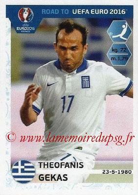 Panini Road to Euro 2016 Stickers - N° 125 - Theofanis GEKAS (Grèce)
