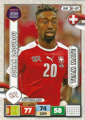 2018 - Panini Road to FIFA World Cup Russia Adrenalyn XL - N° SUI07 - Johan DJOUROU (Suisse)