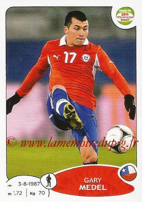 2014 - Panini Road to FIFA World Cup Brazil Stickers - N° 163 - Gary MEDEL (Chili)