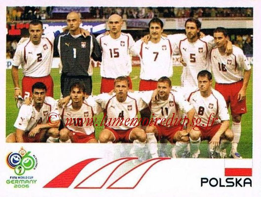 2006 - Panini FIFA World Cup Germany Stickers - N° 055 - Équipe Pologne