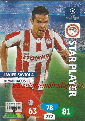 2013-14 - Adrenalyn XL champions League N° 207 - Javier SAVIOLA (Olympiacos FC) (Star Player)