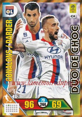 2017-18 - Panini Adrenalyn XL Ligue 1 - N° 434 - Maxime GONALONS + Sergi DARDER (Lyon) (Duo de Choc)