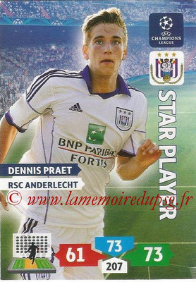 2013-14 - Adrenalyn XL champions League N° 043 - Dennis PRAET (RSC Anderlecht) (Rising Star)