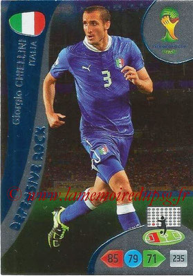 2014 - Panini FIFA World Cup Brazil Adrenalyn XL - N° 374 - Giorgio CHIELLINI (Italie) (Defensive Rock)