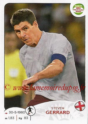 2014 - Panini Road to FIFA World Cup Brazil Stickers - N° 118 - Steven GERRARD (Angleterre)