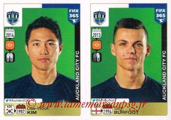 2015-16 - Panini FIFA 365 Stickers - N° 693-694 - Dae-Wook KIM + Sam BURFOOT (Auckland City FC)