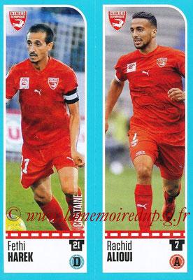 2016-17 - Panini Ligue 1 Stickers - N° 885 + 886 - Fethi HAREK + Rachid ALIOUI (Nîmes)