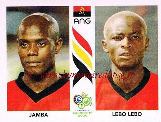 2006 - Panini FIFA World Cup Germany Stickers - N° 304 - JAMBA + LEBO LEBO (Angola)