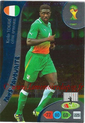 2014 - Panini FIFA World Cup Brazil Adrenalyn XL - N° 333 - Kolo TOURE (Côte d'Ivoire) (Fan's favorite)