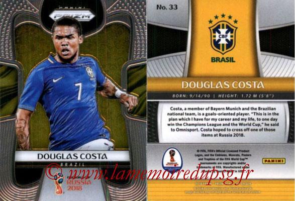 2018 - Panini Prizm FIFA World Cup Russia - N° 033 - Douglas COSTA (Bresil)