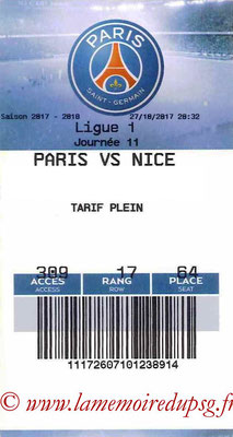 Tickets  PSG-Nice  2017-18