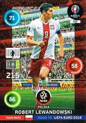 Panini Road to Euro 2016 Cards - N° 150 - Robert LEWANDOWSKI (Pologne)