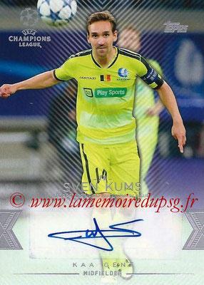 2015-16 - Topps UEFA Champions League Showcase Soccer - N° CLA-SK - Sven KUMS (KAA Gent) (Base Autographs Cards)