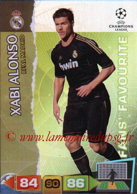 2011-12 - Panini Champions League Cards - N° 321 - Xabi ALONSO (Real Madrid CF) (Fans' Favourite)