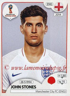 2018 - Panini FIFA World Cup Russia Stickers - N° 578 - John STONES (Angleterre)