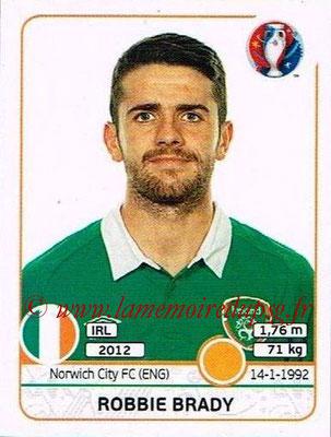 Panini Euro 2016 Stickers - N° 529 - Robbie BRADY (République d'Irlande)