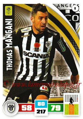 2016-17 - Panini Adrenalyn XL Ligue 1 - N° 008 - Thomas MANGANI (Angers)