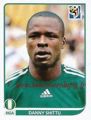2010 - Panini FIFA World Cup South Africa Stickers - N° 133 - Danny SHITTU (Nigeria)