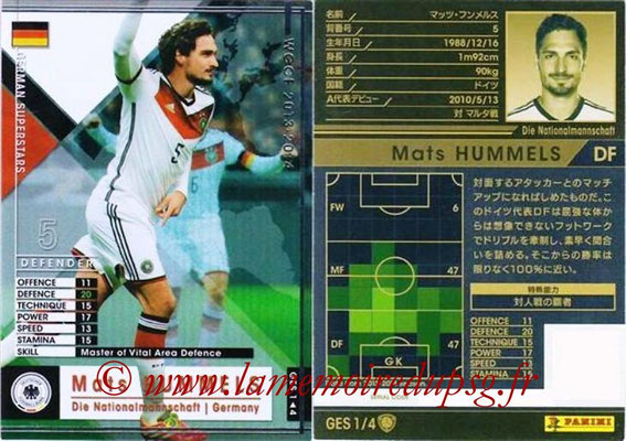 2013-14 - WCCF - N° GES1 - Mats HUMMELS (Allemagne) (German Superstars)
