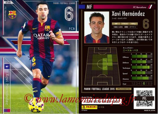 Panini Football League 2015 - PFL13 - N° 034 - Xavi HERNANDEZ (FC Barcelone) (Star)