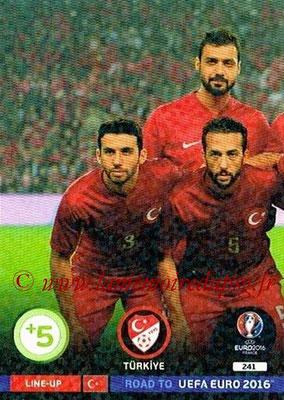 Panini Road to Euro 2016 Cards - N° 241 - Equipe Turquie 1
