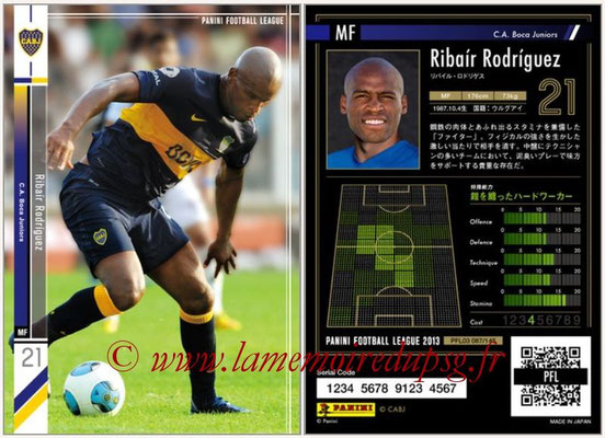 Panini Football League 2013 - PFL03 - N° 087 - Ribair Rodriguez (Boca Juniors)