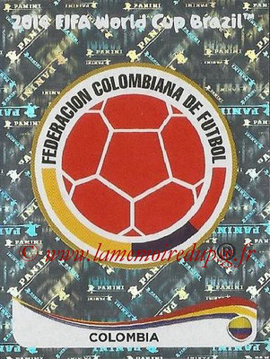 2014 - Panini FIFA World Cup Brazil Stickers - N° 184 - Ecusson Colombie