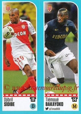 2016-17 - Panini Ligue 1 Stickers - N° 476 + 477 - Djibril SIDIBE + Tiémoué BAKAYOKO (Monaco)