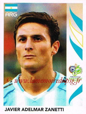 2006 - Panini FIFA World Cup Germany Stickers - N° 176 - Javier Adelmar ZANETTI (Argentine)